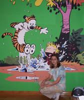 Calvin and Hobbes Mural by Violinagin