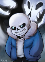 ::Undertale:: Sans by Mistrel-Fox
