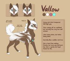 [CM] Vallow ref sheet by Mistrel-Fox