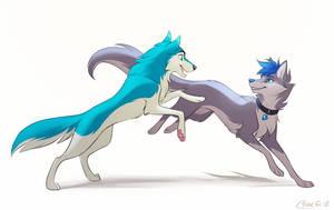 [CM] Frosty and Silverwolf by Mistrel-Fox