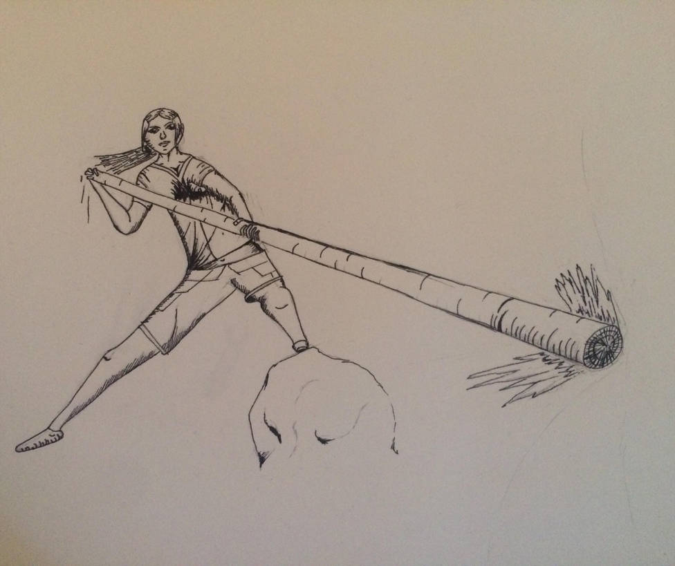 Swinging staff by squidofgiants