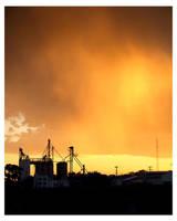 Silo Sunset by CoffeeBum