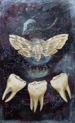 Ghost Teeth by AlizarinJen