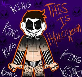 Spooky Scary demon man by MissMizerableRollins