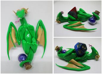 Green Dragon Dice Holder by keykaye