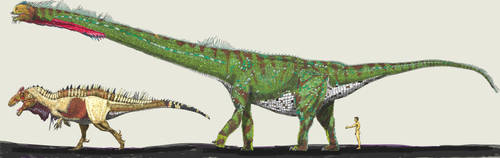 Sauroposeidon painting by palaeozoologist