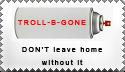 Troll-B-GONE stamp by StampBandWagon