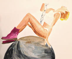 Miley Cyrus' Wrecking Ball by amberjervier