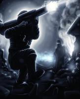 More blood and fallen enemies by Deniszizen