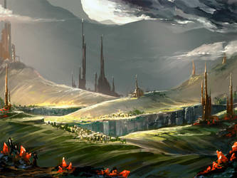 Alien Environment 1 by KalaSketch