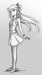 Minako Aino Sketch by KalaSketch