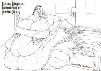 Aurora Hargrave,Embodiment of Morbid Obesity. Ink1 by kraban