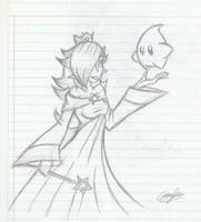 Rosalina and Luma (sketch) by MileenaKoopa