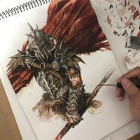 Red cloak by VVnan