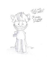 My little Pony friendship is magic crazy Twilight by Barnyardfan4