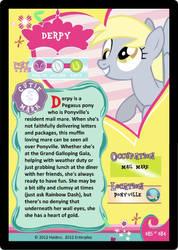 My little pony Derpy Trading card by Barnyardfan4