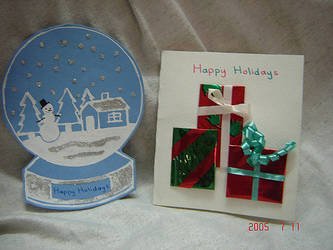 My Cards for the Holiday Card Project by spring-sky