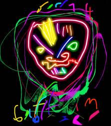 Evil face by Tzertz