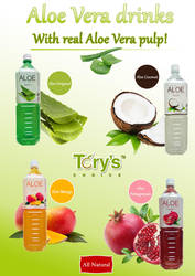 Aloe Drinks Brochure by Moonknight