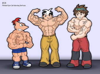 Saturday Morning Flextoons by zephleit