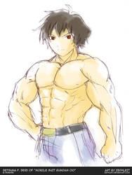 MuscleUp - Setsuna Seiei by zephleit