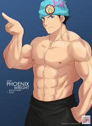 MuscleUp - Hobo Phoenix Wright by zephleit
