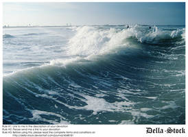 Behind the Wave by Della-Stock