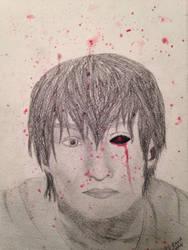 Kaneki Ken: Realistic Portrait by ReBaka-Chan