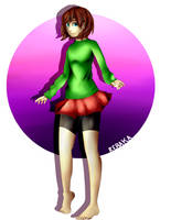 Green shirt girl.  by ReBaka-Chan