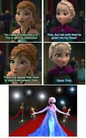 You got your Oscar, Elsa by NoNameDEF