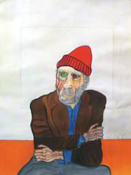 Painting Charles Bukowski, Listening to Tom Waits by wino-strut
