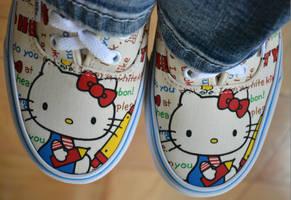 hello kitty vans by jeanbeanxoxo