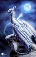 White dragoness by Azany