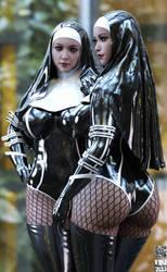 Hightower's Buxom nuns #02 by Chemicq