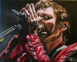Matt Bellamy oil painting by DieselBenz