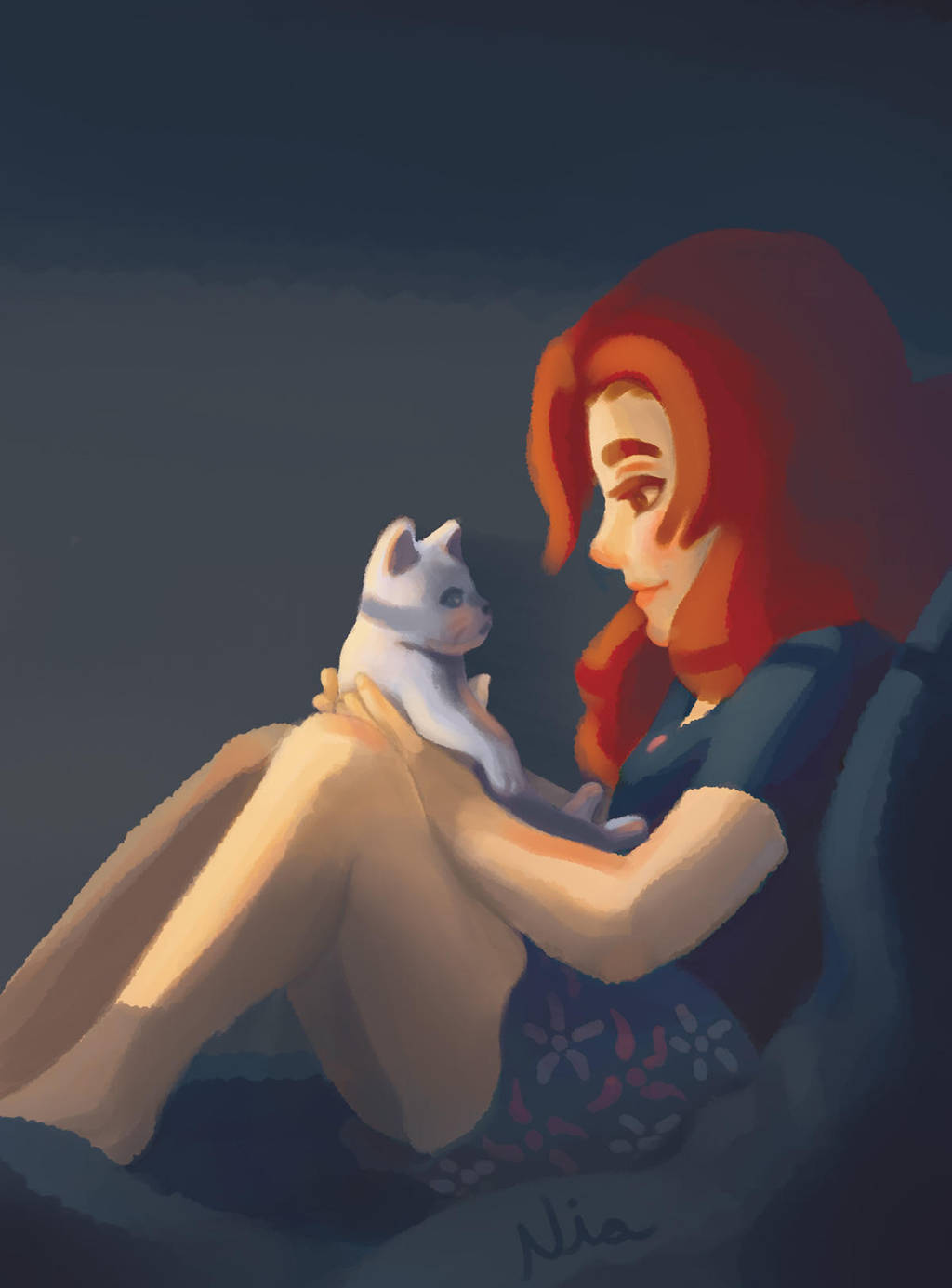 Niazinha and Miss Little Claws by FernandaNia