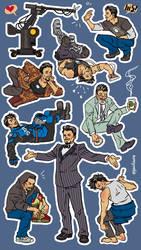 tony stark stickers by gazdowna