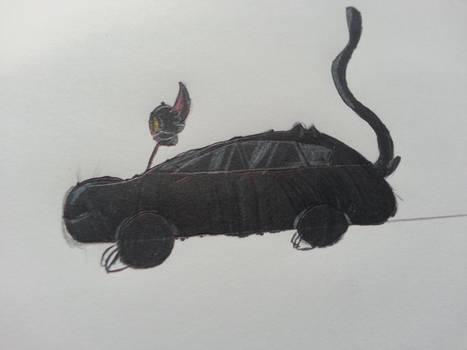 All Black Cat-illac by TechnoSchnauzer