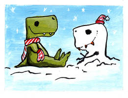 Dino Christmas 2010 by nateneurotic