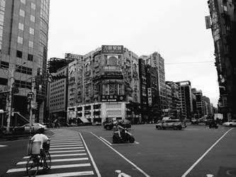 Street Corner in Taipei by Ghostexorcist