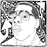 Jay-Z Maze Portrait by ink-blot-mazes