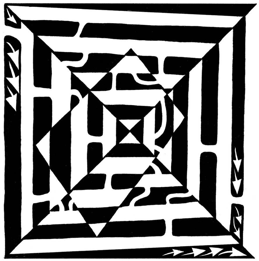 Monolith Maze by ink-blot-mazes