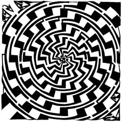 Maze of Gradient Swirl Vortex by ink-blot-mazes