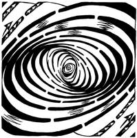 Swirl Wave Maze by ink-blot-mazes