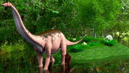 Apatosaurus and Friend by Zethara