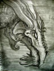 Shadow Dragon Sketch by Steelgrave