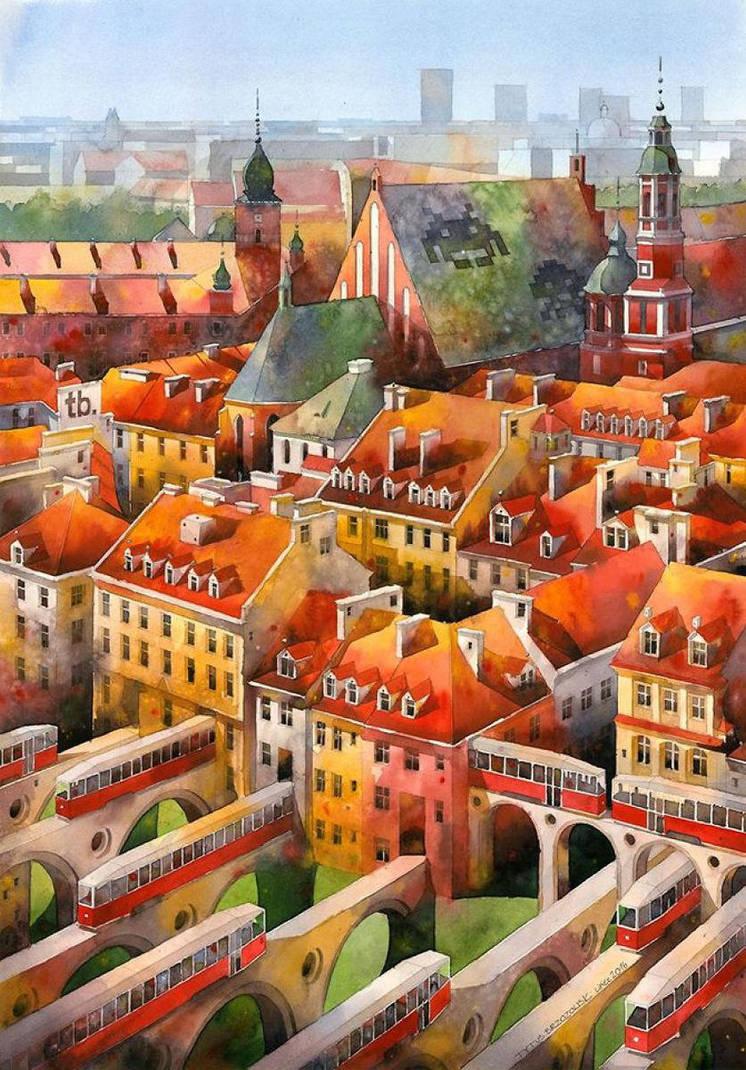 Revival of 19th-century Warsaw by Tytus Brzozowski by niumeblog