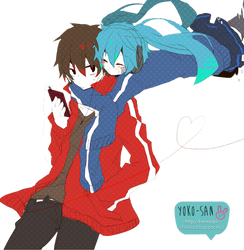 Shintarou y Ene-chan by Momo-Honey