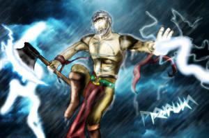 Perun- god of thunder by DarthDestruktor