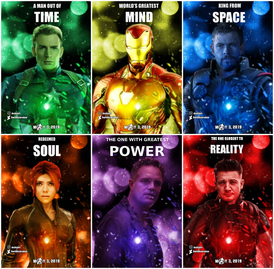 Avengers 4 Fan-made Posters (text Version) By